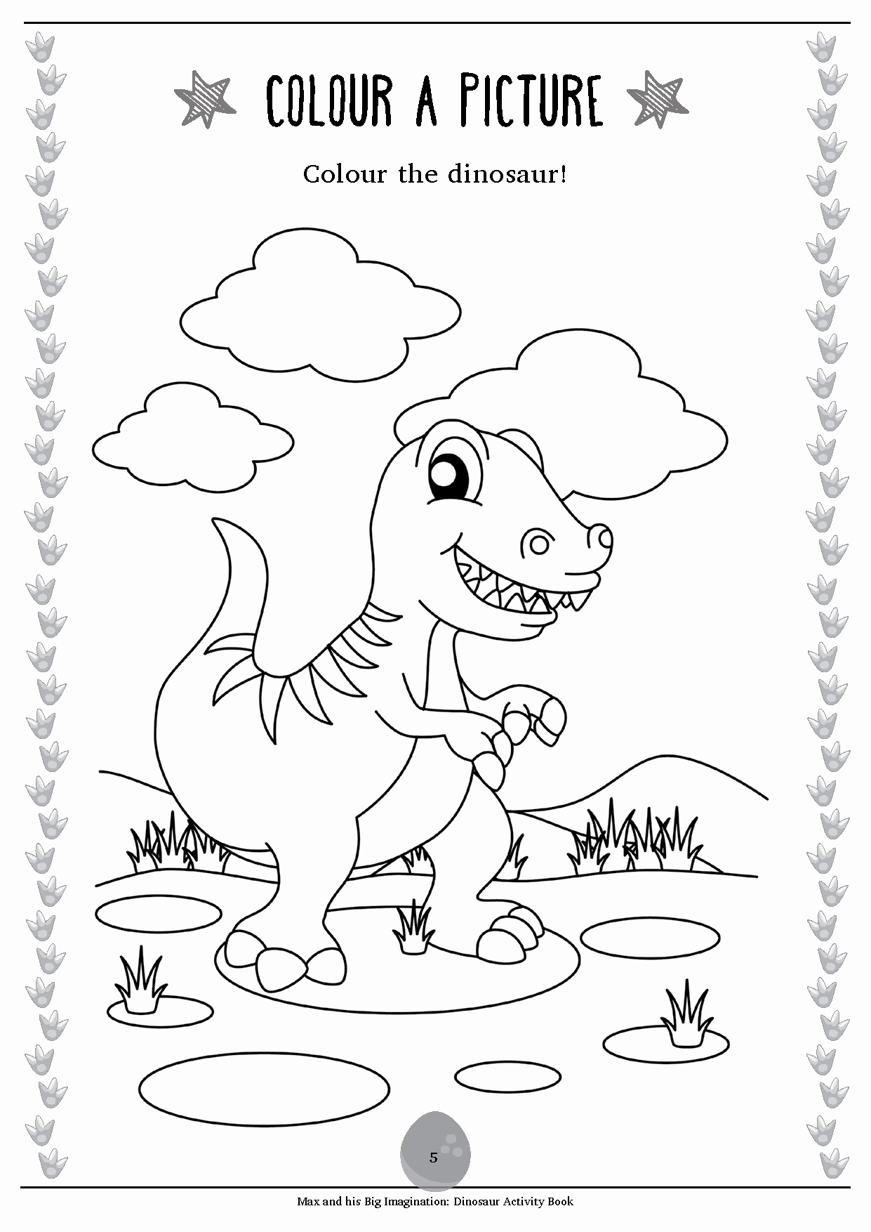 Dinosaur Worksheets for Kindergarten Lovely Max Free Activity Worksheet Dinosaur Activity Book Sample