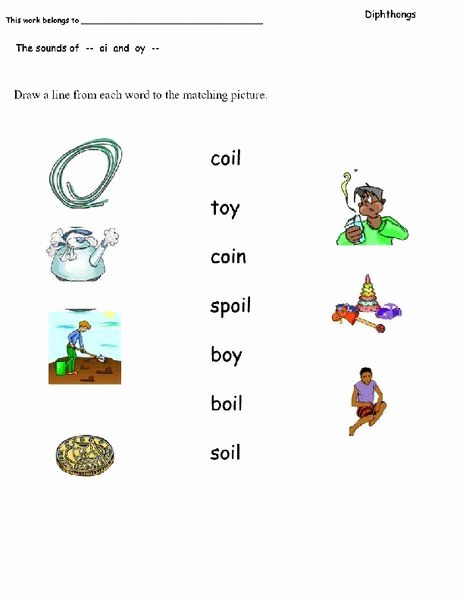Diphthong Oi Oy Worksheets Elegant Diphthongs Oi Oy Worksheets the sounds Oi and Oy