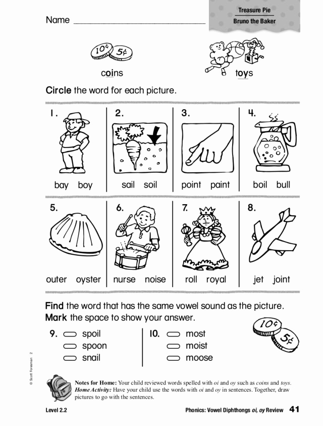 Diphthong Oi Oy Worksheets Elegant Phonics Vowel Diphthongs Oi and Oy Review Worksheet for