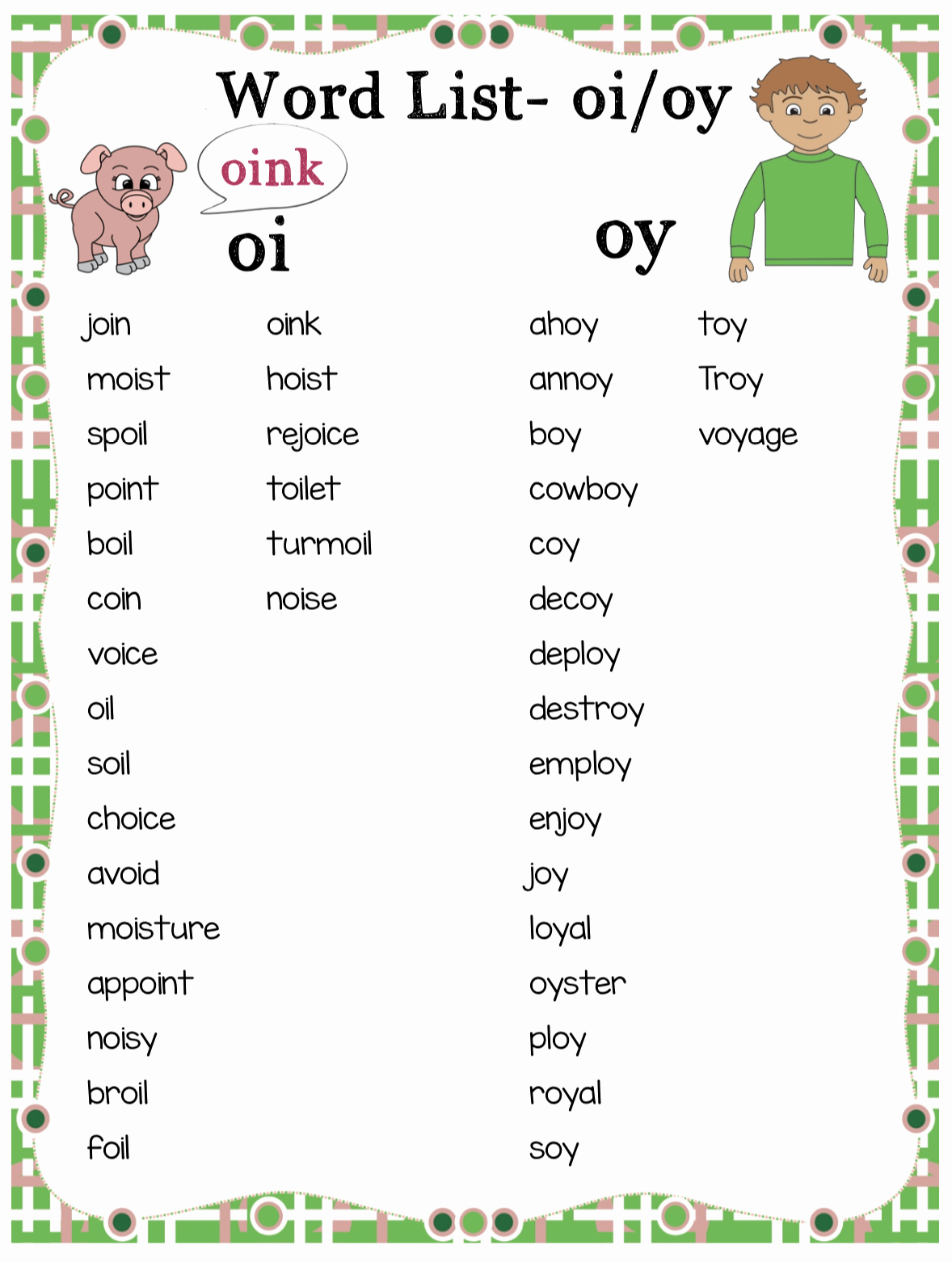 Diphthong Oi Oy Worksheets Fresh Teaching the Oi Oy Diphthongs Phonics Bundle Make Take