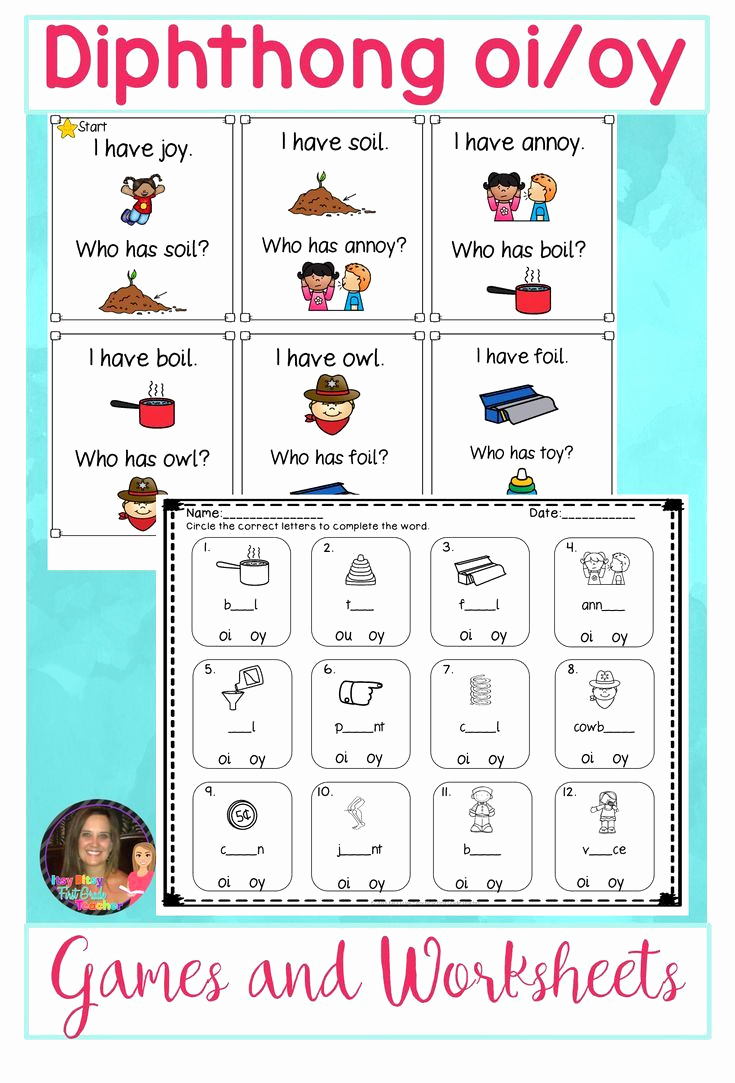 Diphthong Oi Oy Worksheets Luxury Fresh First Grade Diphthongs Worksheets Worksheet