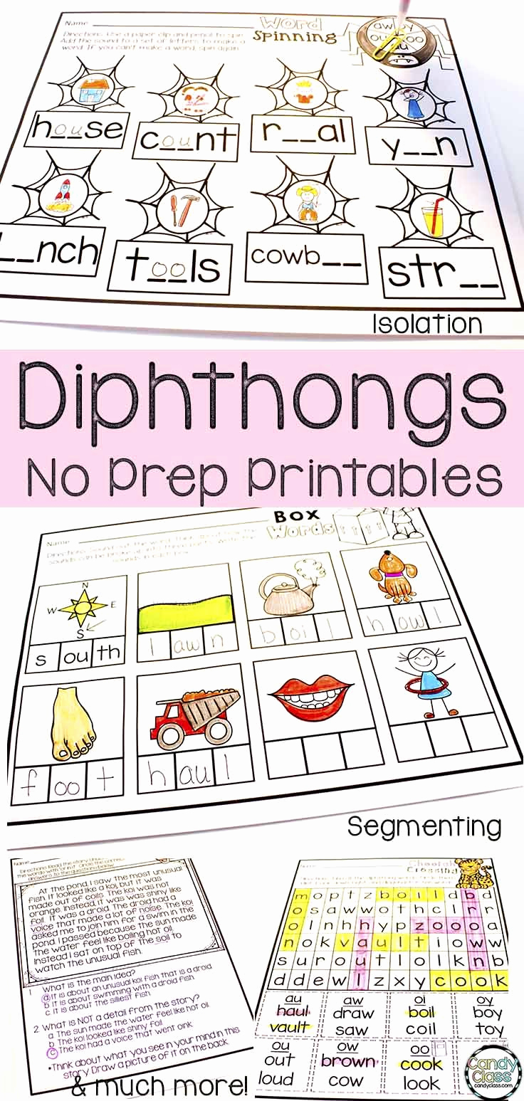 Diphthong Oi Oy Worksheets New Diphthong No Prep Printables Oi Oy Ou Ow Oo Book tooth