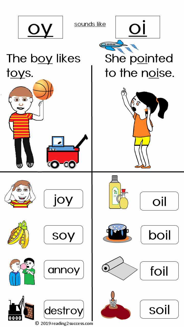 Diphthong Oi Oy Worksheets New Diphthongs Oy and Oi Make the Same sound Boy and Boil In