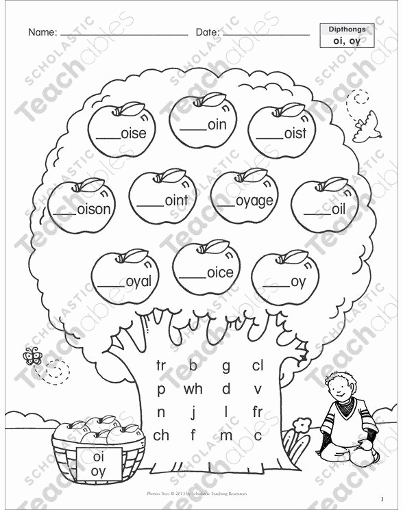 Diphthong Oi Oy Worksheets Unique Diphthong Oi Oy Worksheets Diphthong Oi Oy Phonics Tree In