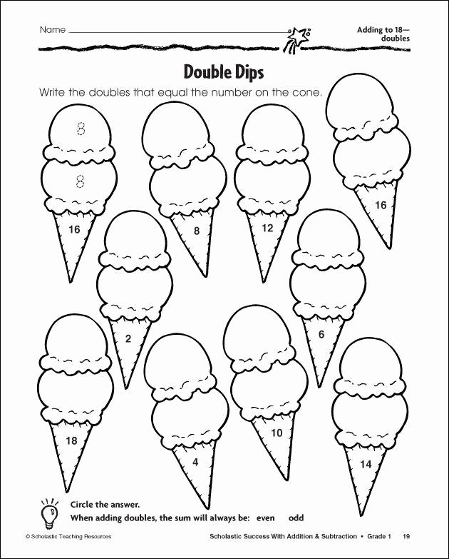 Double Facts Worksheets Fresh Near Doubles Colouring Pages