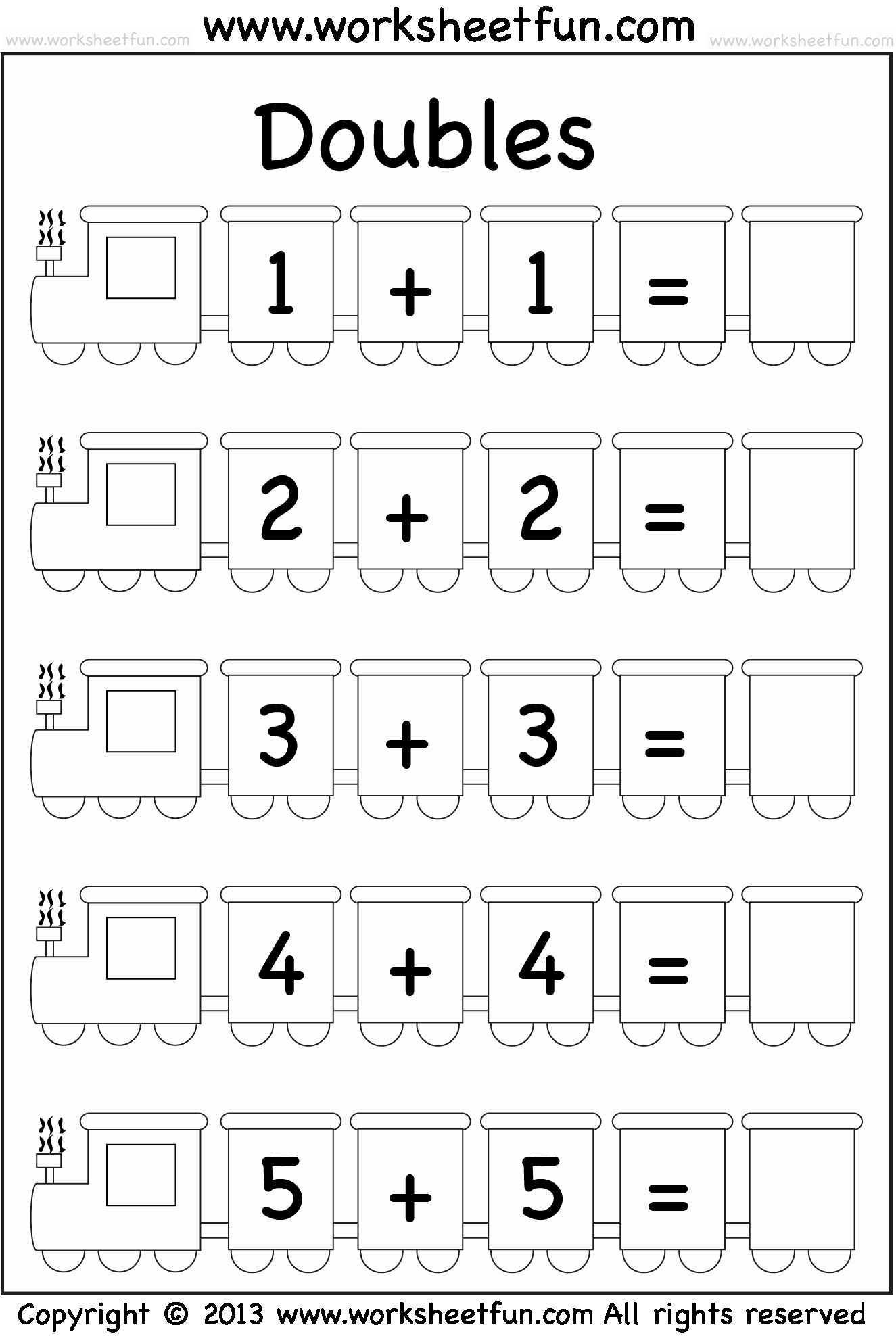 Double Facts Worksheets Unique Addition Doubles – 1 Worksheet Free Printable Worksheets
