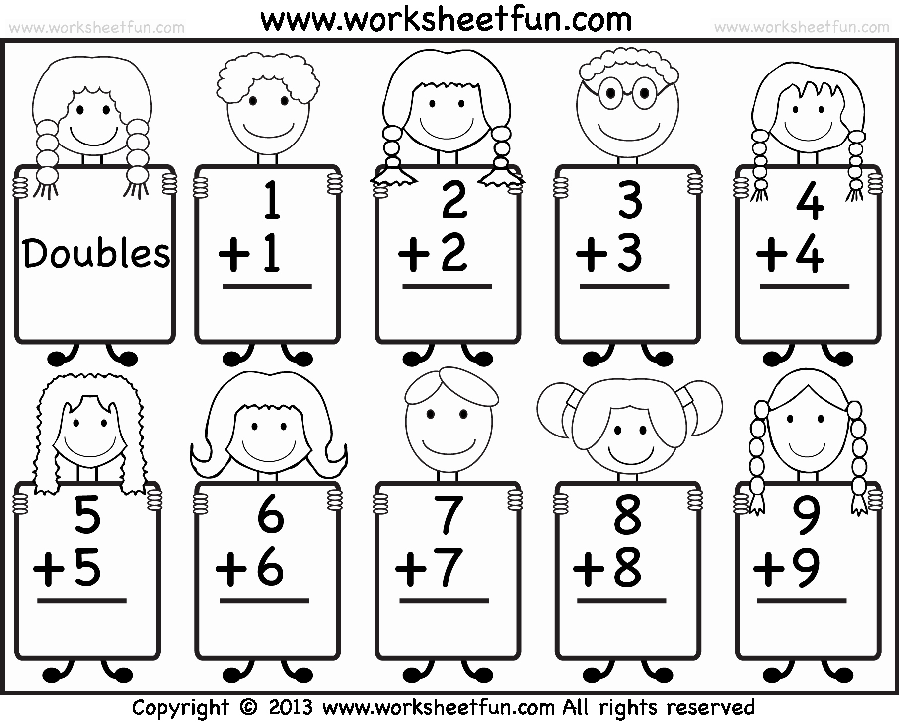 Doubles Addition Worksheet Awesome Addition Doubles Facts – Beginner Addition Worksheet