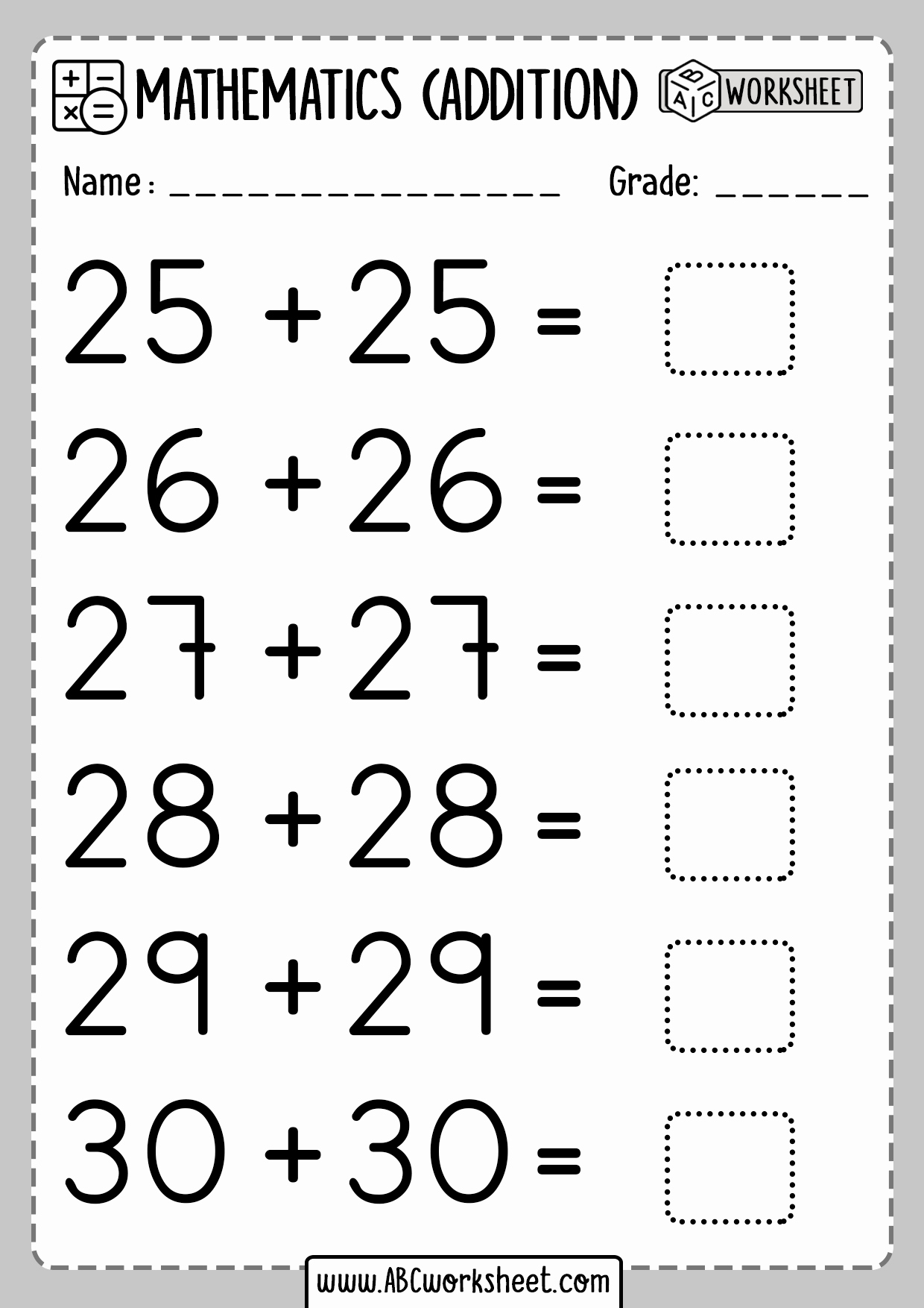 Doubles Addition Worksheet Beautiful Addition Doubles First Grade Math Abc Worksheet