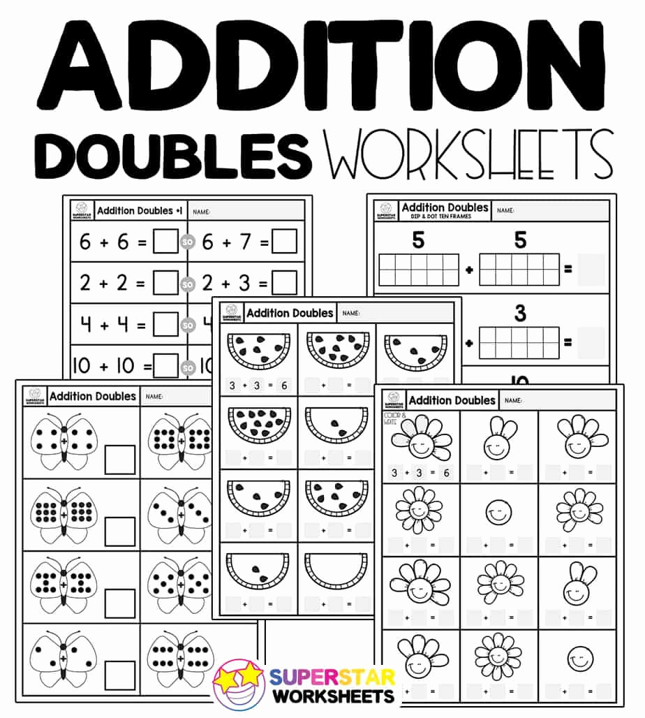 Doubles Addition Worksheet Beautiful Addition Doubles Worksheets Superstar Worksheets