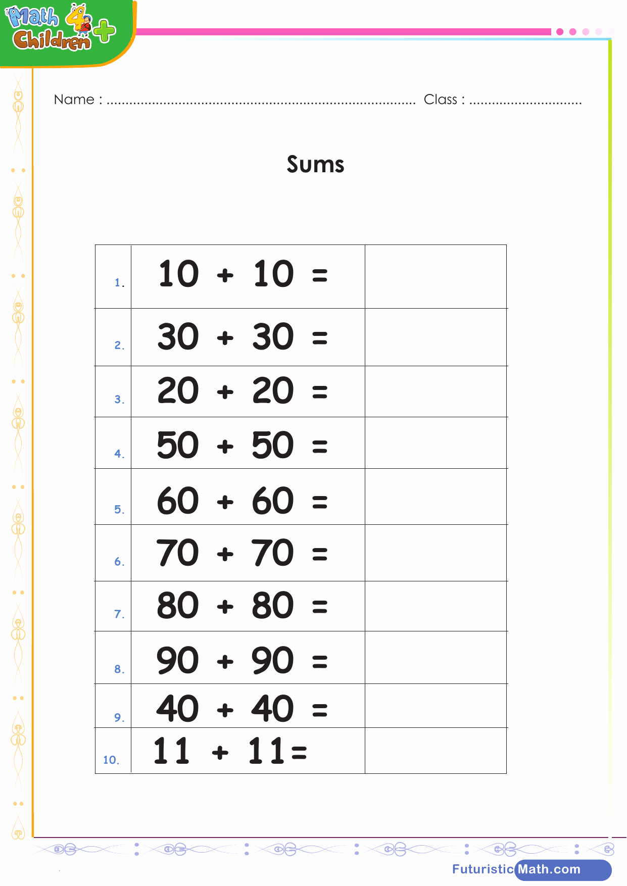 Doubles Addition Worksheet Inspirational Adding Doubles 2 Digits Worksheet