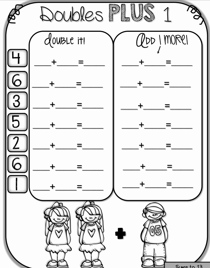 Doubles Math Facts Worksheet Beautiful Pin On Classroom