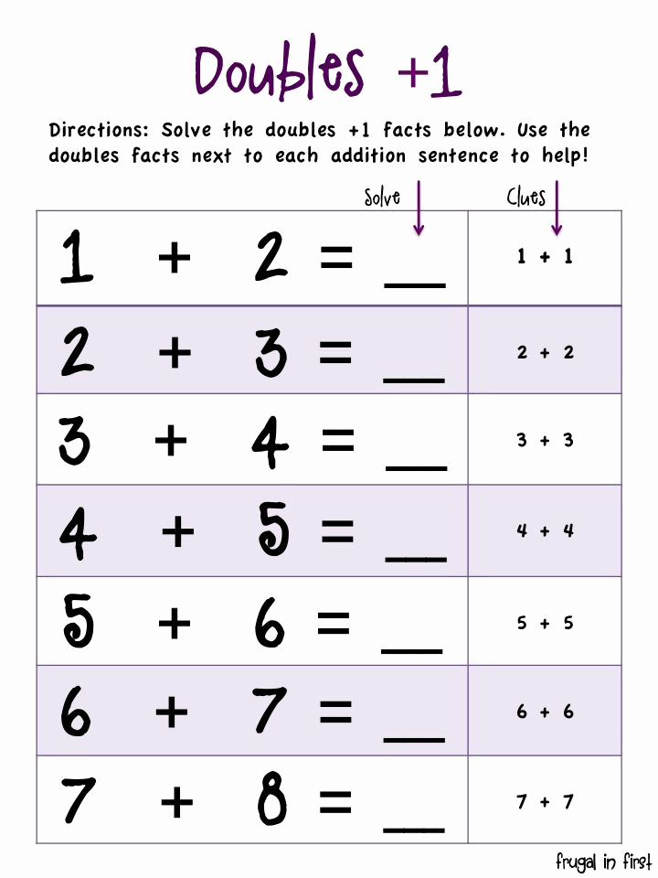 Doubles Math Facts Worksheet Fresh 27 Best Math Anchor Charts Images On Pinterest