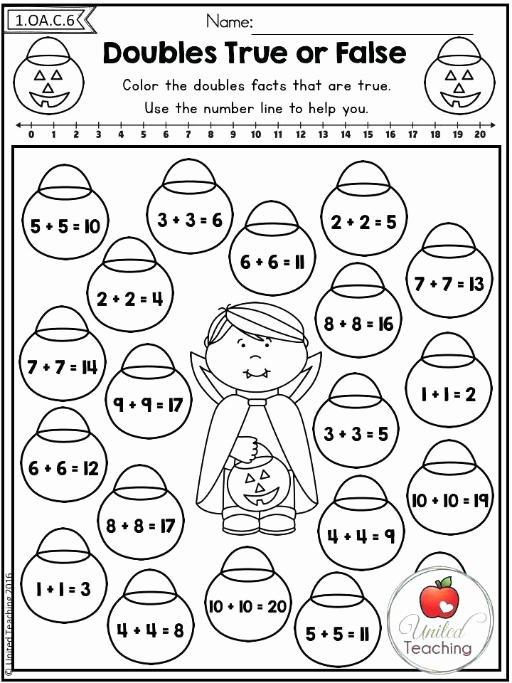 Doubles Math Facts Worksheet Fresh Adding Doubles Worksheets Number Strings Worksheets