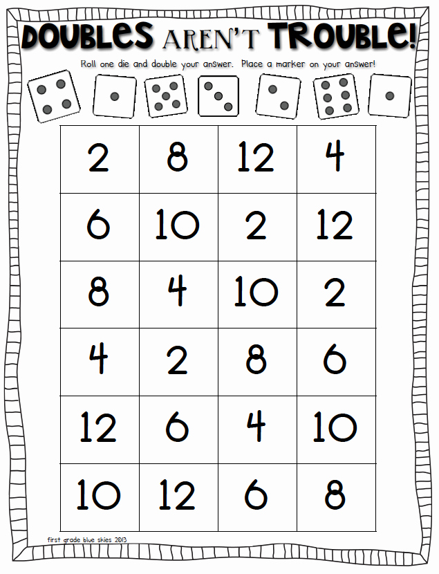 Doubles Math Facts Worksheet Lovely Freebielicious Doubles aren T Trouble