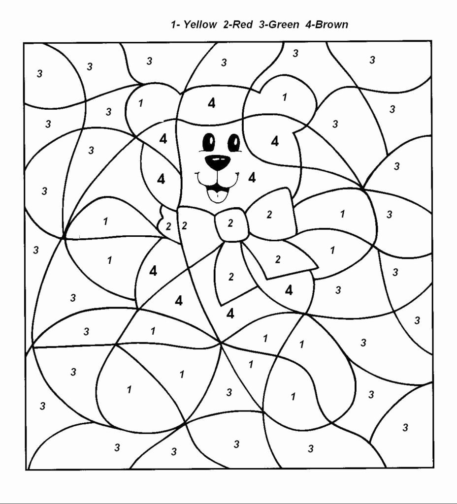 Easy Color by Number Worksheets Awesome Easy Color by Number for Preschool and Kindergarten