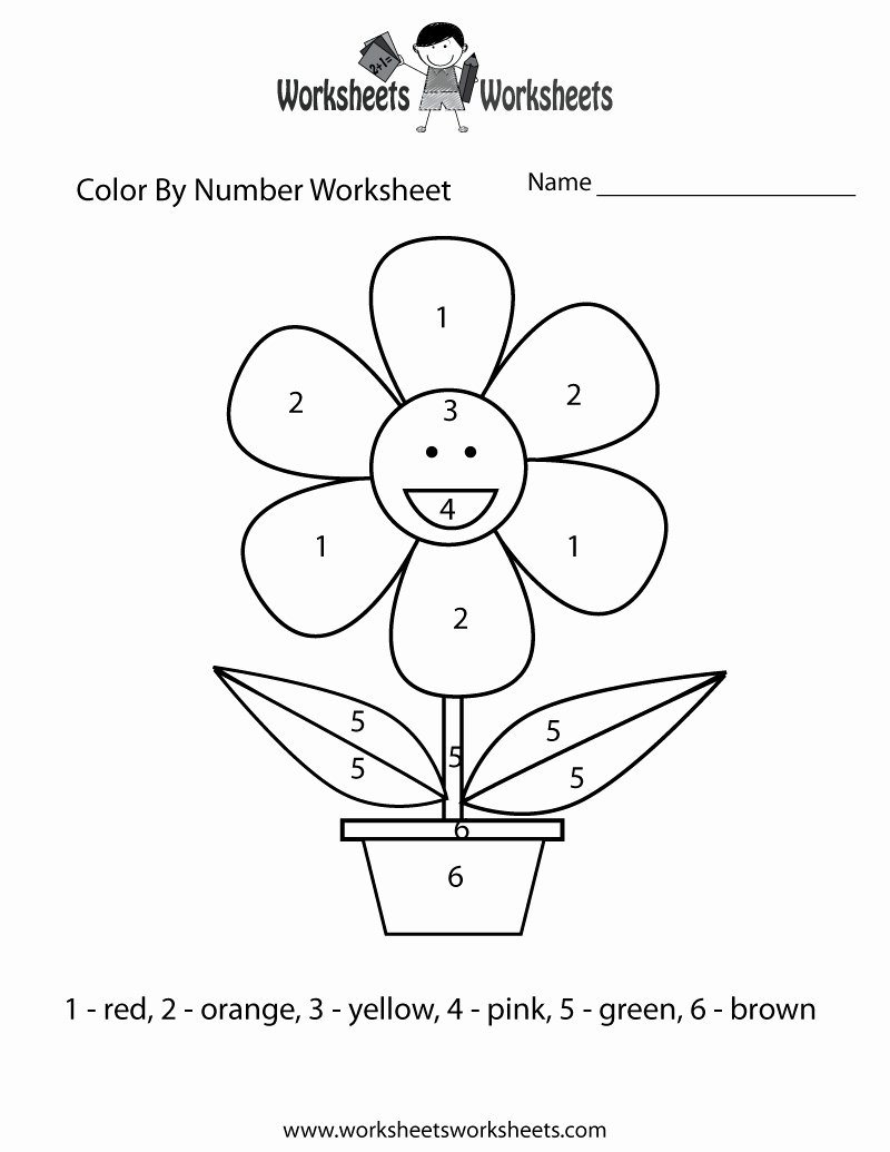 Easy Color by Number Worksheets Awesome Easy Color by Number Worksheet Free Printable