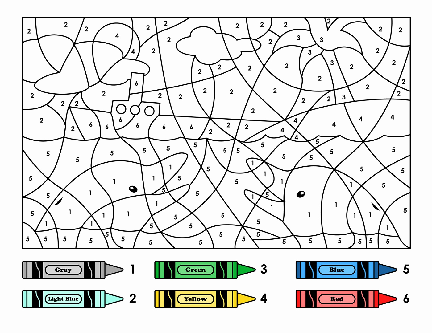 Easy Color by Number Worksheets Best Of Easy Color by Number for Preschool and Kindergarten