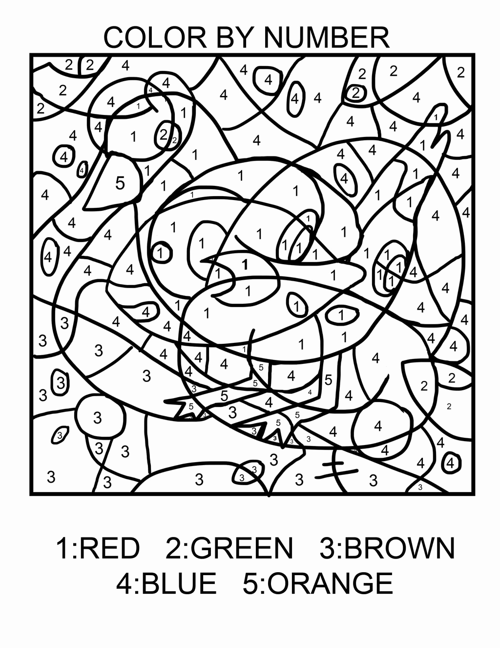 Easy Color by Number Worksheets Fresh Easy Color by Number Get Coloring Pages
