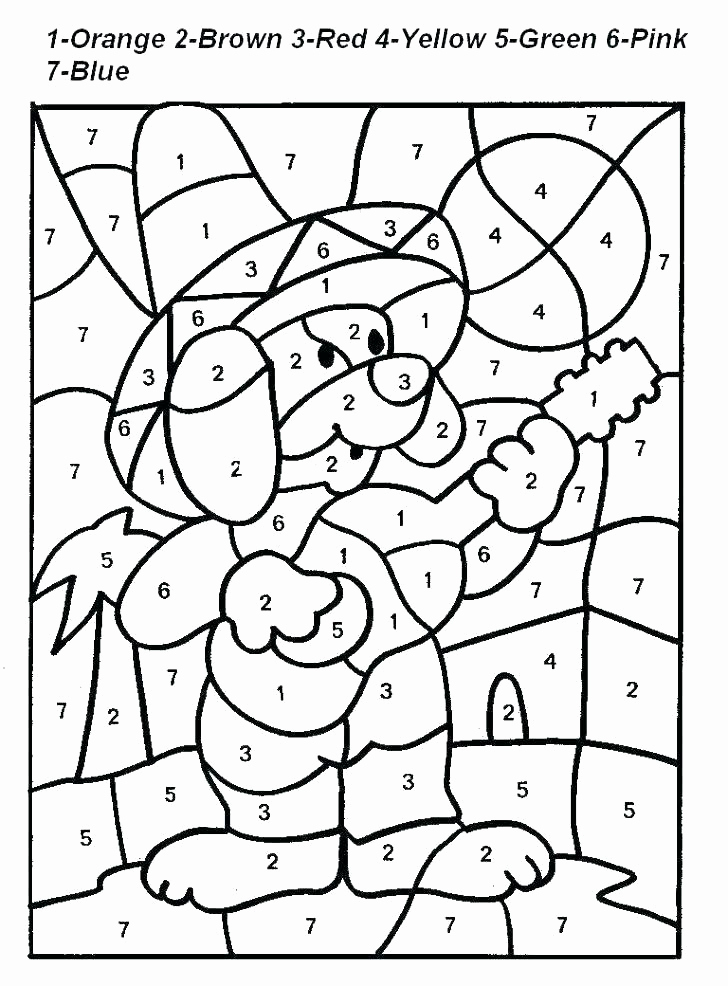 Easy Color by Number Worksheets Inspirational Easy Color by Number for Preschool and Kindergarten