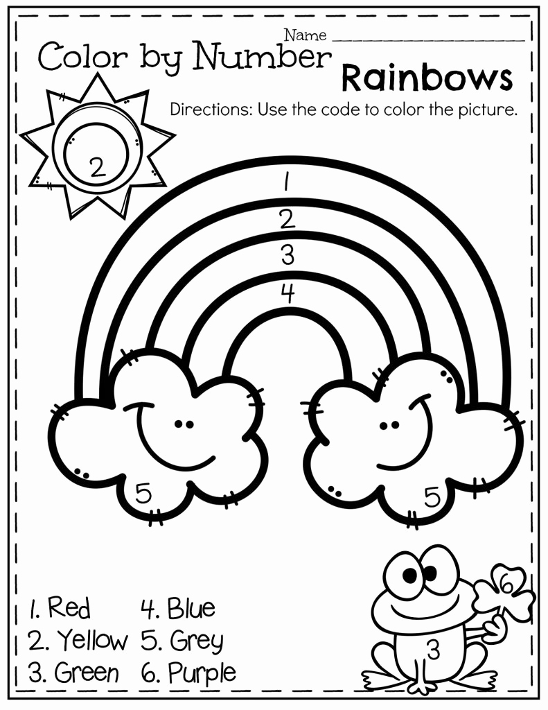 Easy Color by Number Worksheets Lovely Easy Color by Number Worksheets for Kindergarten