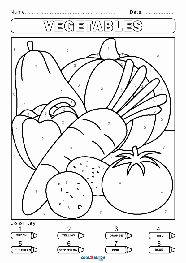Easy Color by Number Worksheets Luxury Free Color by Number Worksheets