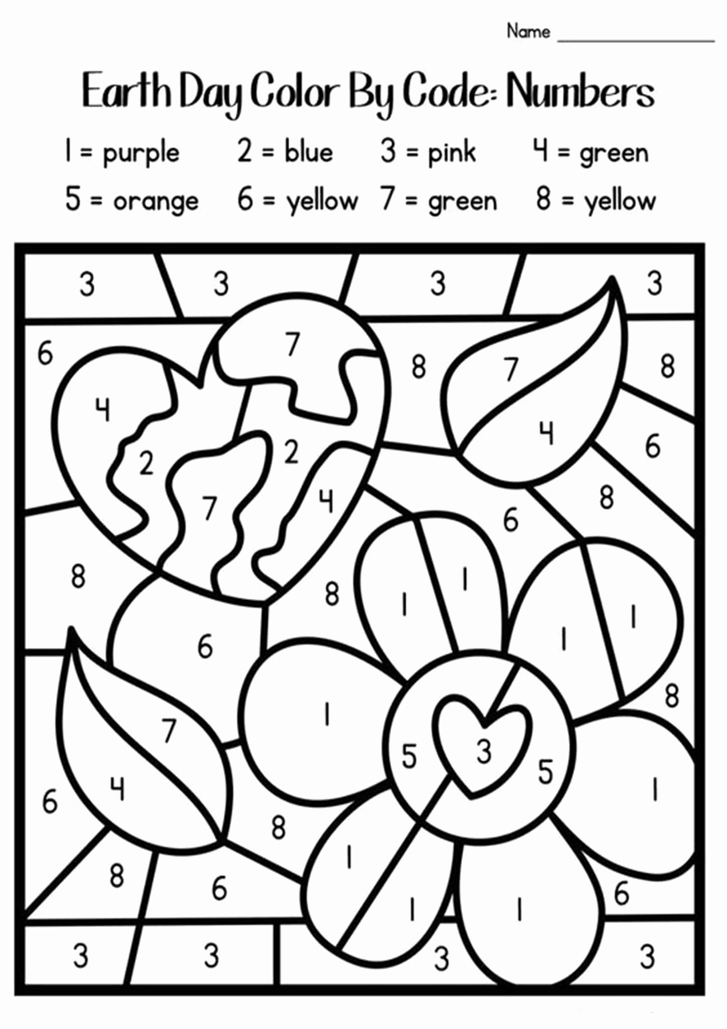 Easy Color by Number Worksheets New Free Printable Color by Number Worksheets for Kindergarten