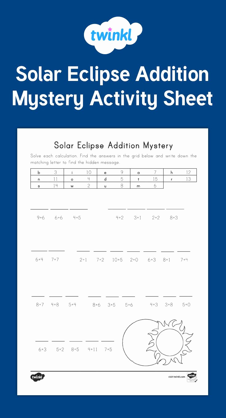 Eclipse Worksheets for Middle School Awesome 20 solar Eclipse Worksheets Middle School