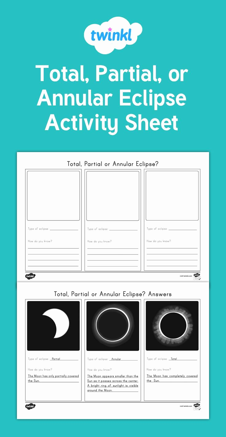 Eclipse Worksheets for Middle School Beautiful A Useful Activity Sheet to Check Students Knowledge Of the