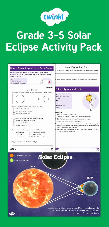 Eclipse Worksheets for Middle School Elegant 20 solar Eclipse Worksheets Middle School