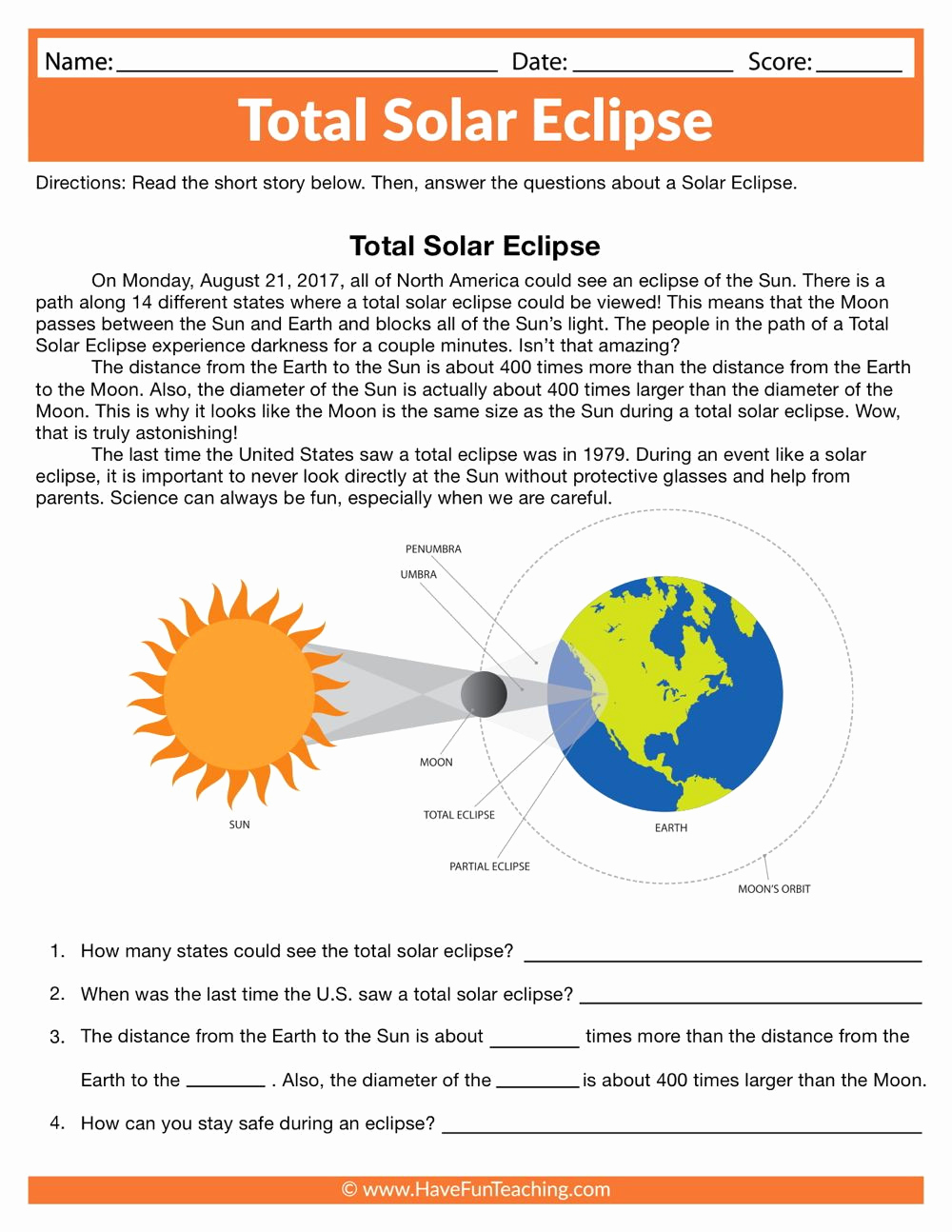 Eclipse Worksheets for Middle School Lovely 20 solar Eclipse Worksheets Middle School