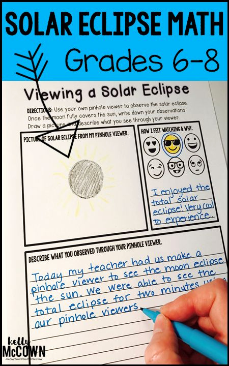 Eclipse Worksheets for Middle School Luxury solar Eclipse Middle School Math Activities