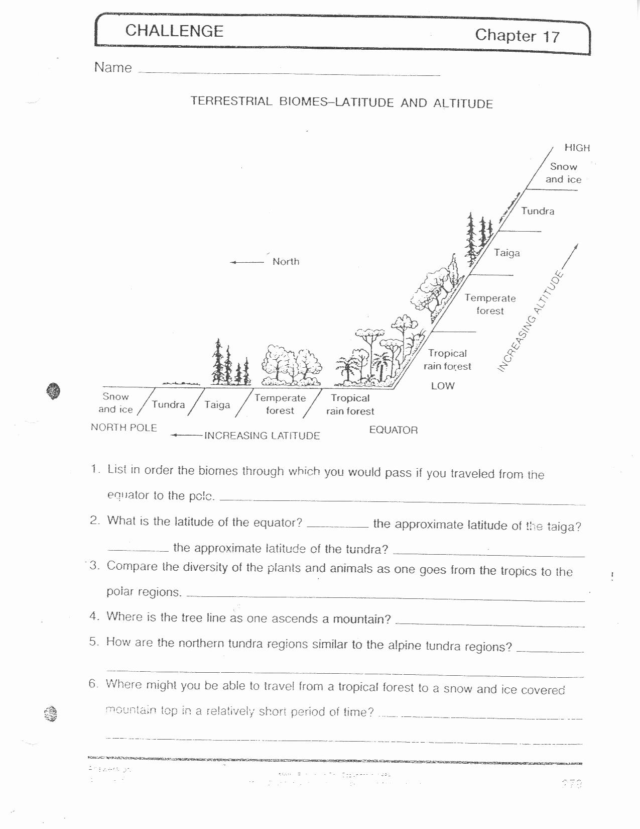 Ecology Worksheets Middle School Unique Ecology Worksheets Middle School