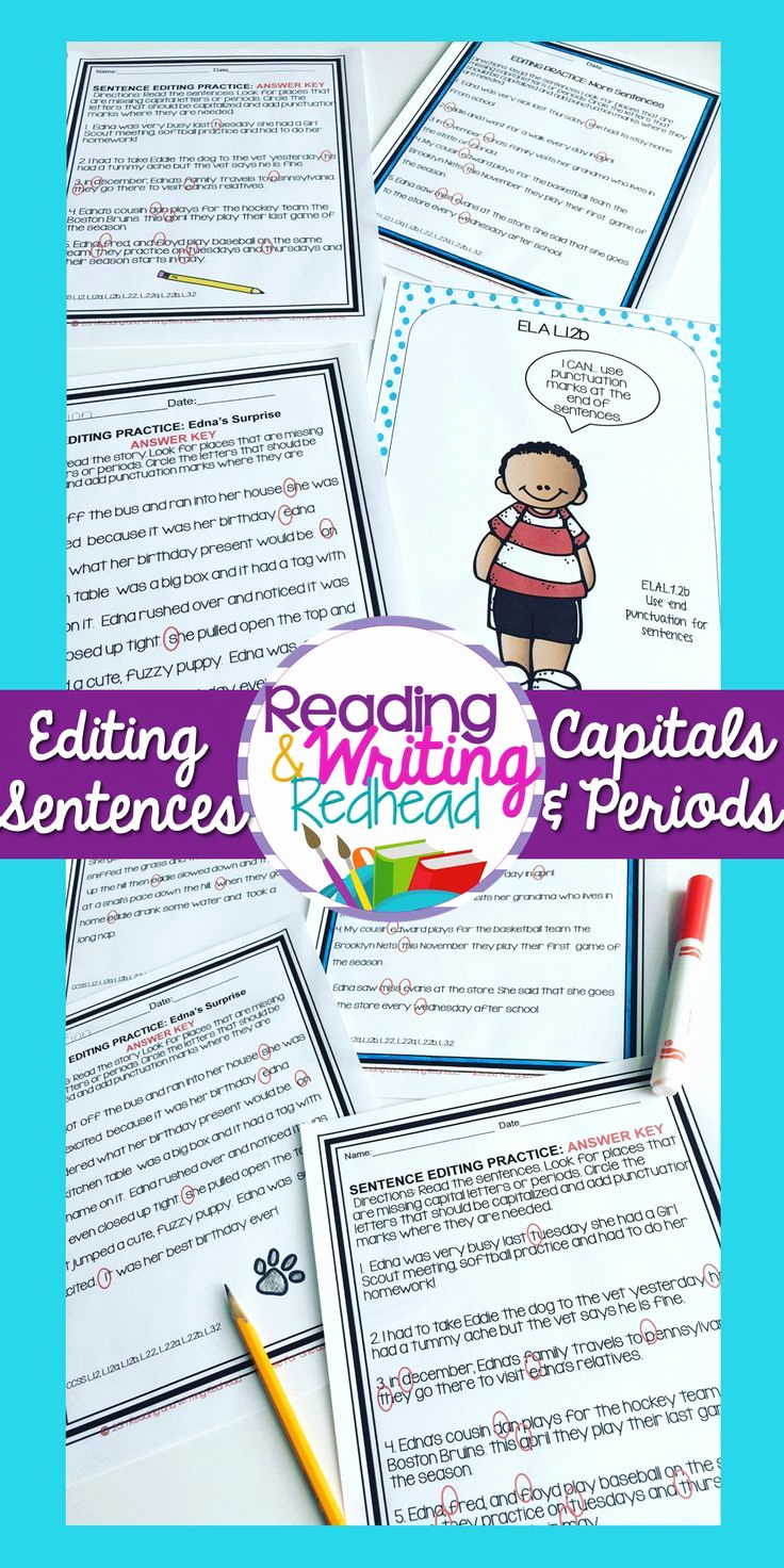 Editing and Proofreading Worksheets Awesome Editing and Proofreading Sentences Practice Worksheets and
