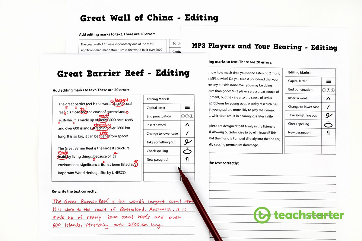 Editing and Proofreading Worksheets Awesome Proofreading Worksheets Middle School Printable