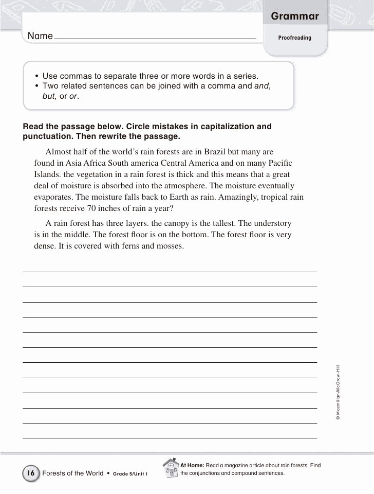 Editing and Proofreading Worksheets Elegant Bining Sentences Worksheet