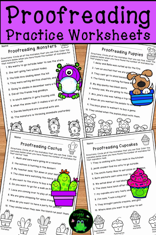 Editing and Proofreading Worksheets Elegant Proofreading Worksheets Editing Practice