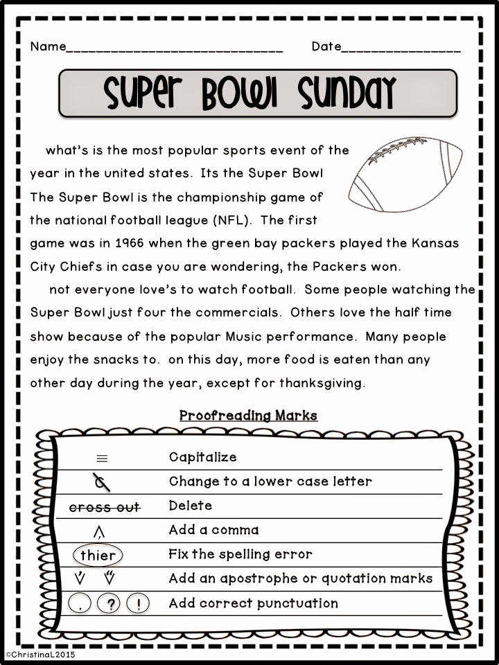 Editing and Proofreading Worksheets Lovely Proofreading Worksheets