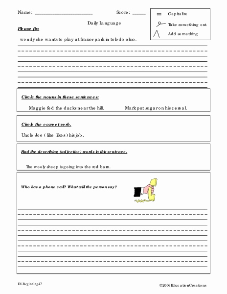 Editing and Proofreading Worksheets Luxury Proofreading and Editing Worksheet for 5th 6th Grade