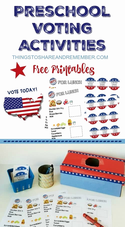 Election Day Worksheets Beautiful Preschoolers Can Vote Preschool Voting Activities
