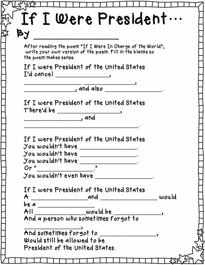 Election Day Worksheets Fresh President for A Day Activities with Freebie