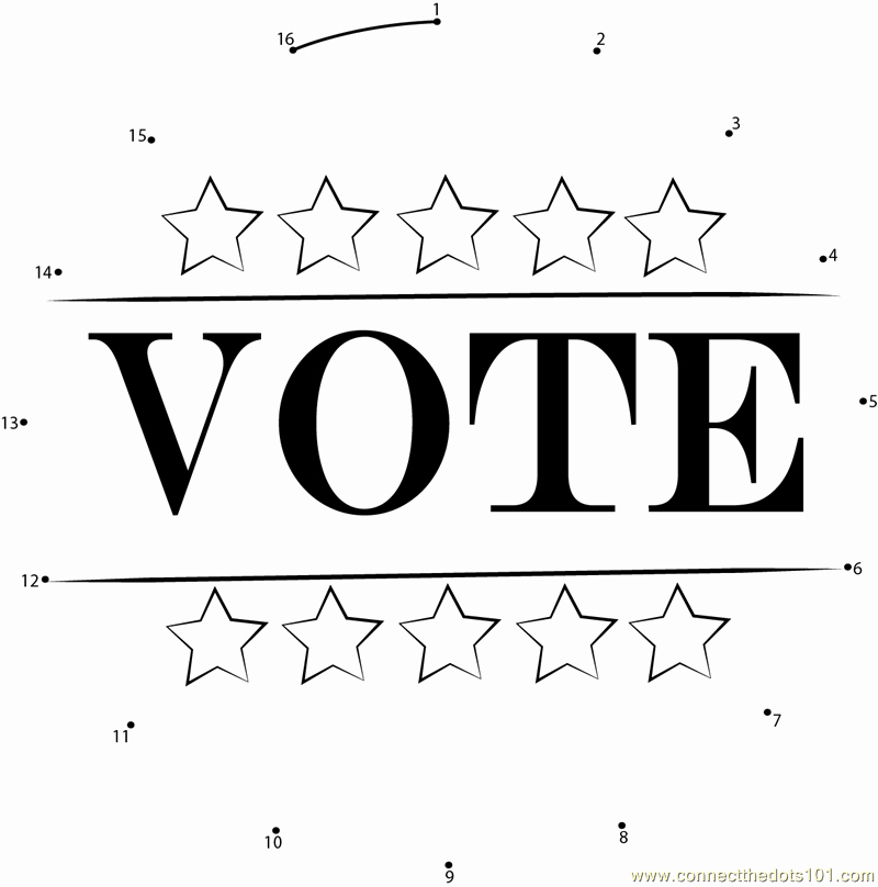 Election Day Worksheets Inspirational Election Day Dot to Dot Printable Worksheet Connect the Dots