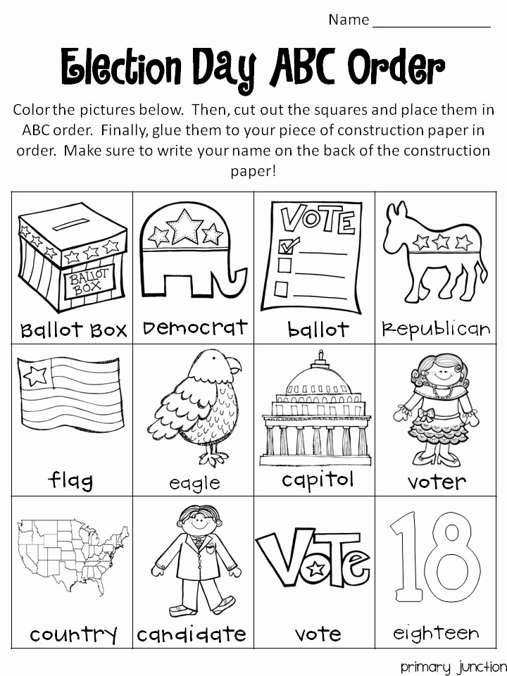 Election Day Worksheets Luxury Election Day Freebie Classroom Freebies
