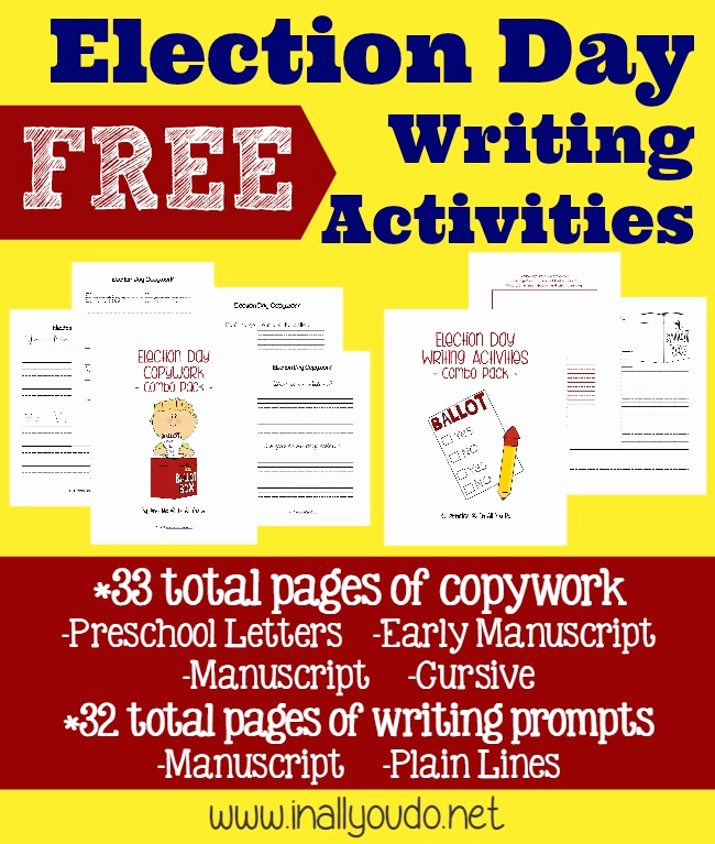 Election Day Worksheets New Election Day Writing Activities Freebies In All You Do