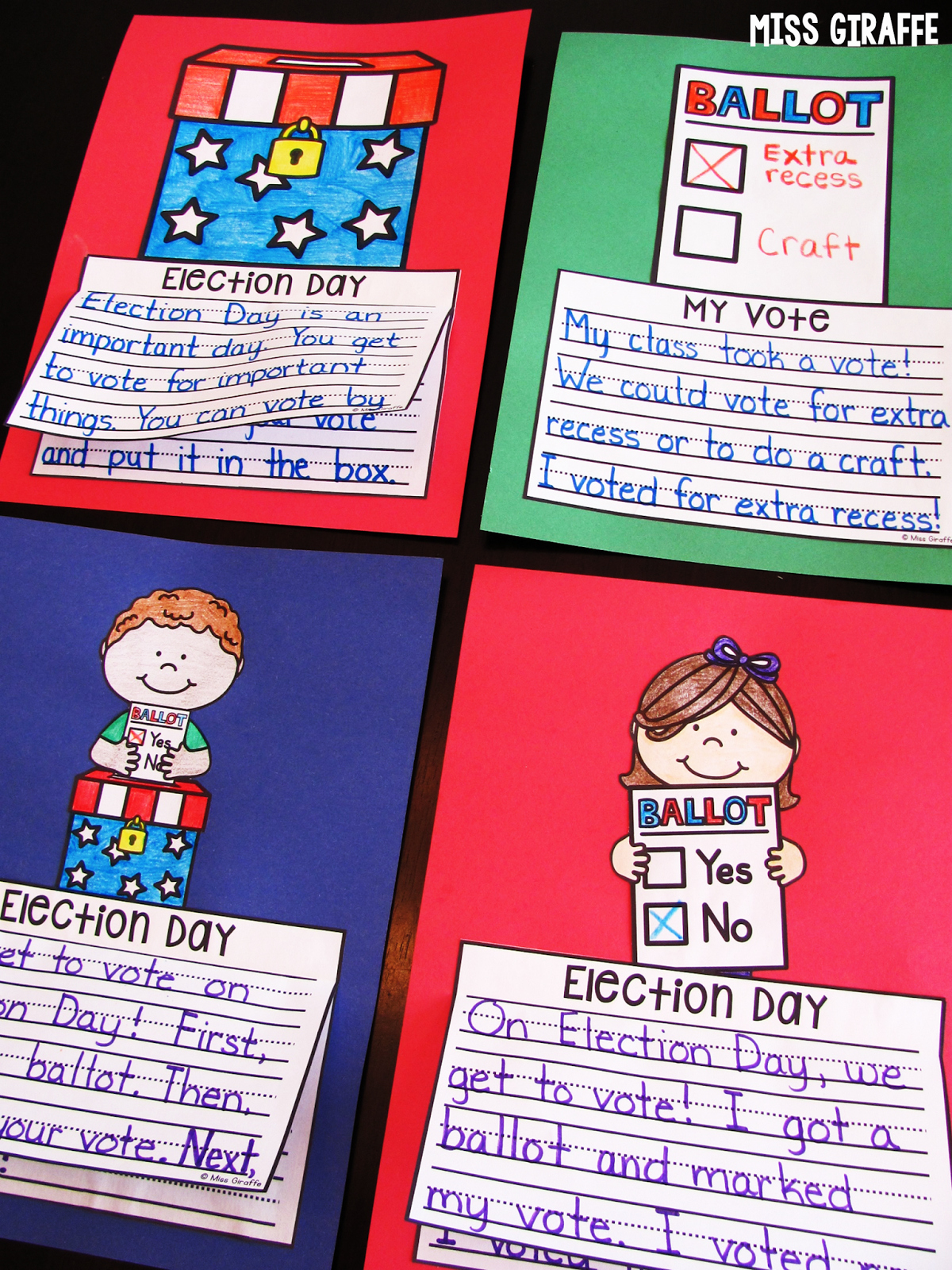 Election Day Worksheets New Miss Giraffe S Class November Writing Crafts