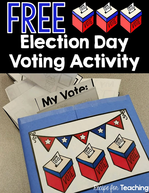 Election Day Worksheets Unique Election Day Voting Fun for Kindergarten Recipe for Teaching