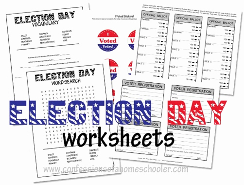 Election Day Worksheets Unique Election Day Worksheets for Kids Confessions Of A