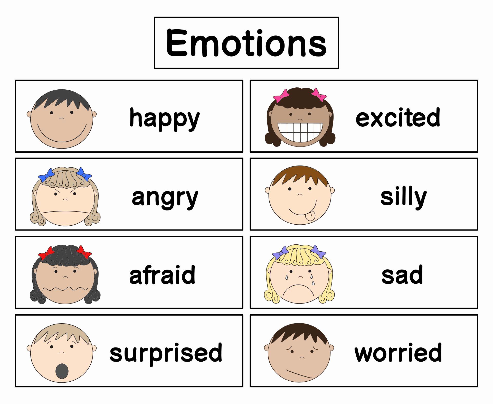 Emotions Worksheets for Preschoolers Awesome 7 Best Printable Emotion Cards Printablee