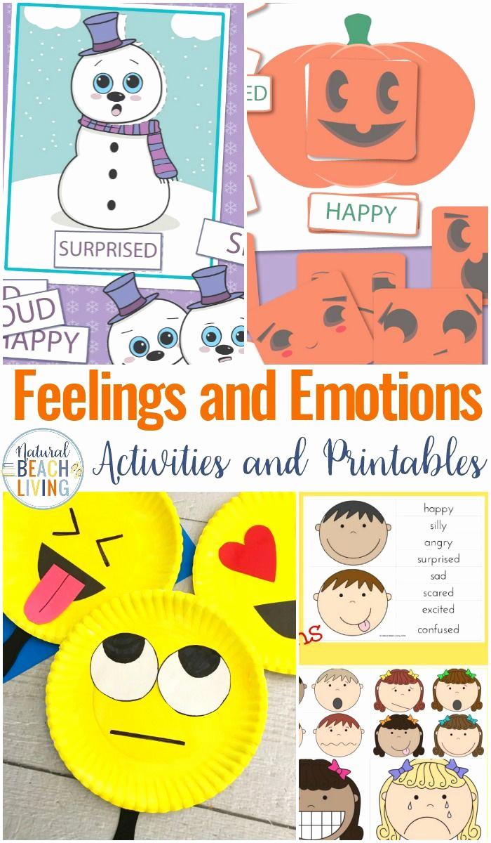 Emotions Worksheets for Preschoolers Beautiful 12 Preschool Emotions Printables Feelings Cards