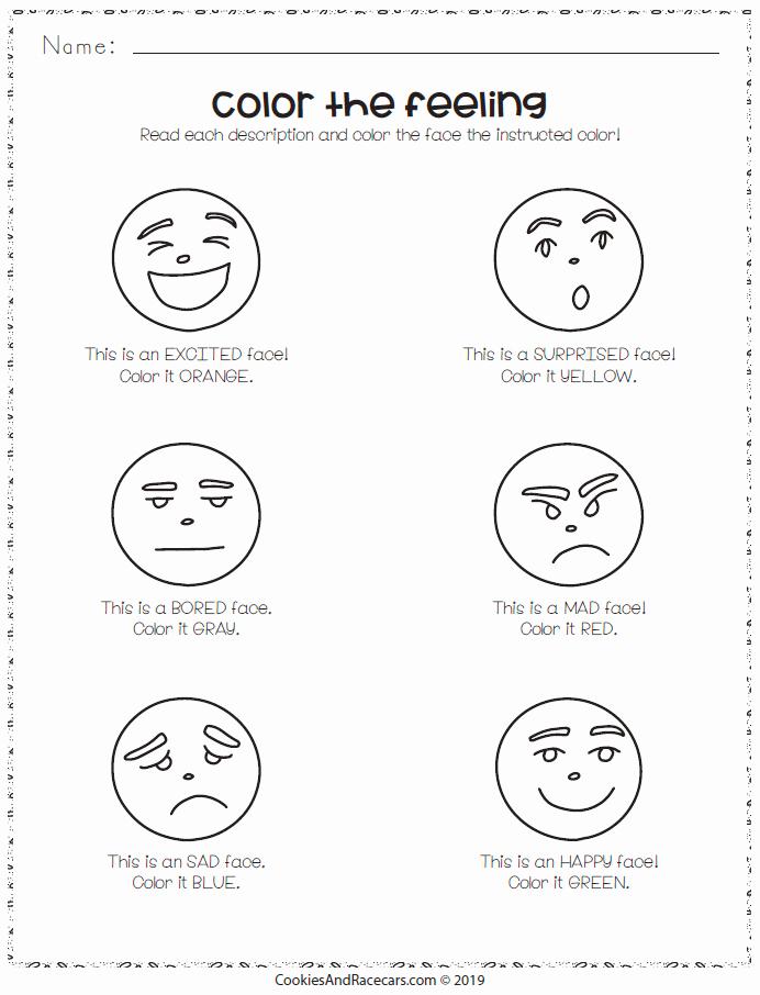 Emotions Worksheets for Preschoolers Best Of Emotions Worksheet Pack