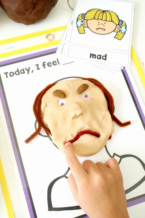 Emotions Worksheets for Preschoolers Inspirational Teaching Feelings today I Feel Play Dough Mats Fantastic